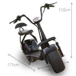 Scooter eléctrique CityCoco Biplace Black 60v ATAA CARS TROTTINETTES