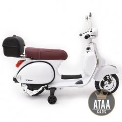Motos electriques pour enfants et bebe batterie 6v 12v pas cher telecommande Moto VESPA officiel 12v électrique pour enfants ...