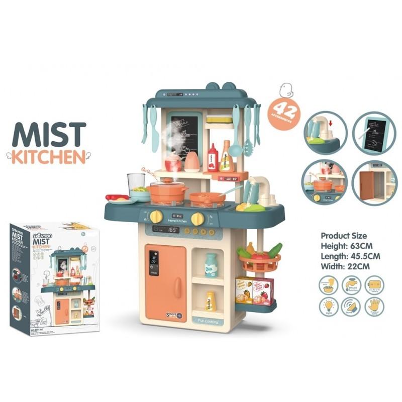 Tapis trampolines toboggans cuisines pour enfants Cuisine Mist Kitchen 42 accessoires