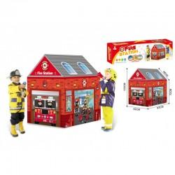 Tapis trampolines toboggans cuisines pour enfants Caserne des Pompiers