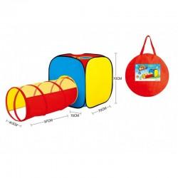 Tapis trampolines toboggans cuisines pour enfants Tente avec tunnel d'accès
