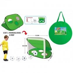 Tapis trampolines toboggans cuisines pour enfants Cage de foot 2 en 1