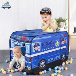 Tapis trampolines toboggans cuisines pour enfants Tente police avec balles