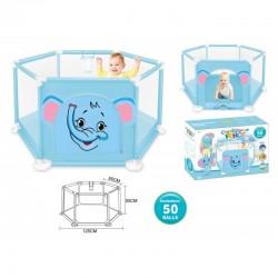 Tapis trampolines toboggans cuisines pour enfants Parc de jeux éléphant avec balles