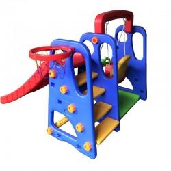 Tapis trampolines toboggans cuisines pour enfants Parc pour enfants 3 en 1