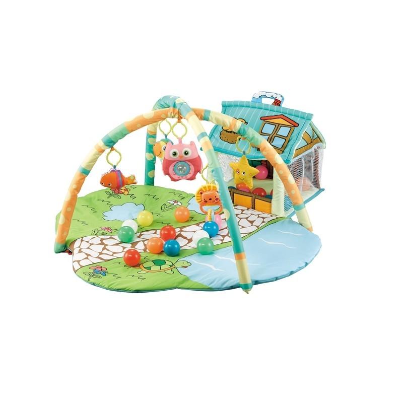 Tapis trampolines toboggans cuisines pour enfants Tapis de jeux avec maison et jardin