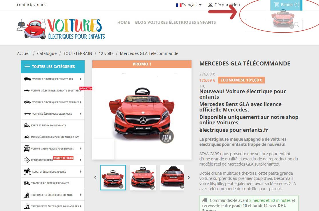 acheter des voitures électriques pour enfants avec télécommande batterie 12v